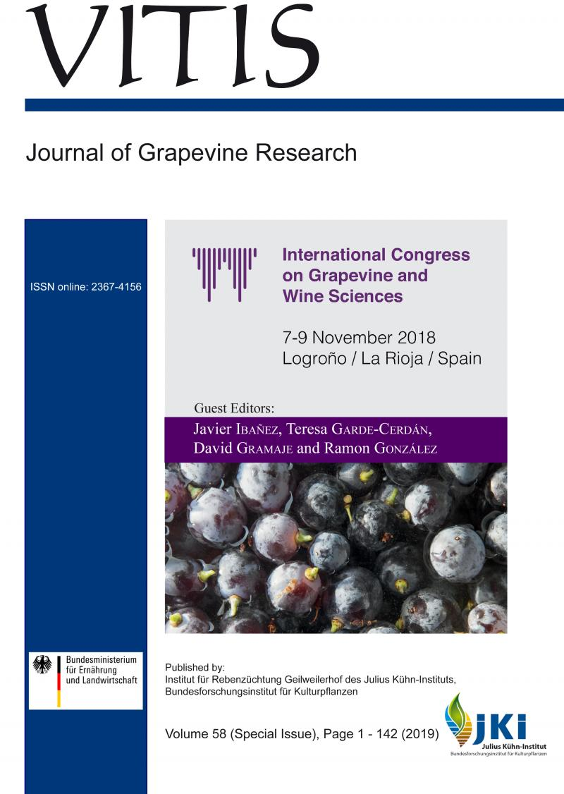 La revista Vitis publica trabajos presentados en el International Congress on Grapevine and Wine Sciences celebrado en Logroño
