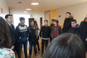 visita de los estudiantes del IES Marco Fabio Quintiliano de Calahorra al ICVV