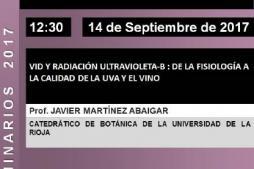 Seminario 'Vid y radiación ultravioleta-B: de la fisiología a la calidad de la uva'